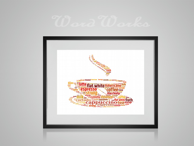 Personalised Coffee Cup Design Word Art Gifts