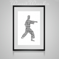 Personalised Martial Arts Karate Judo Jujitsu Taekwondo Design Word Art Gifts