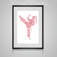 Personalised Female Martial Arts Karate Judo Taekwondo Jujitsu Design Word Art