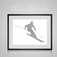 Personalised Ski Skiing Design Word Art