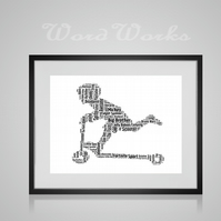 Personalised Scooter Design Word Art