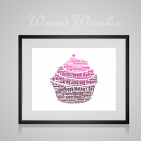 Personalised Cupcake Design Word Art Gifts
