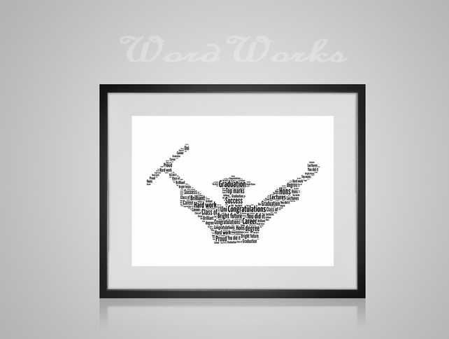 Personalised Graduation Celebration Design Word Art Gifts