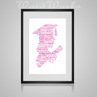 Personalised Graduation female Design Word Art Gifts