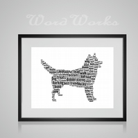 Personalised Siberian Husky Dog Design Word Art Gifts