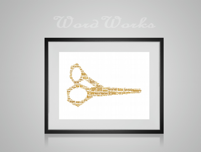 Personalised Barber Hairdressing Scissors Design Word Art Gifts