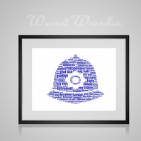 Personalised Retirement Police Officer Hat Design Word Art Gifts