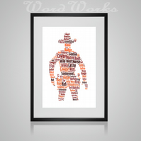 Personalised Cowboy Design Word Art Gifts