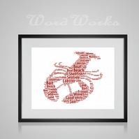 Personalised Lobster Design Word Art Gifts