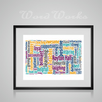 Personalised Best Teacher Design Word Art Print