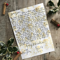 Hand Written Letter from Father Christmas and Santa.