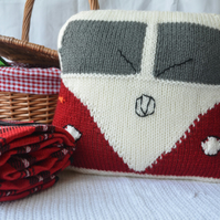 Knitted Camper Van Cushion