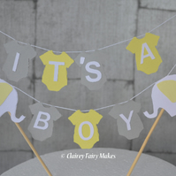 It's a boy baby shower cake bunting