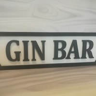 Gin bar vintage style street sign