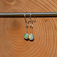 Silver opal earrings