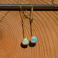 18k gold opal earrings