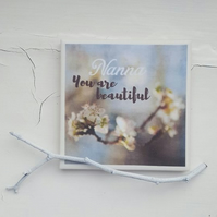 You are Beautiful (Can Personalise) - Handmade Ceramic Coaster