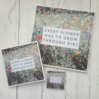 Large Handmade Ceramic Coaster - Every Flower