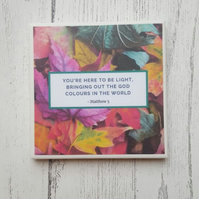 God Colours - Matthew 5 - Handmade Ceramic Coaster