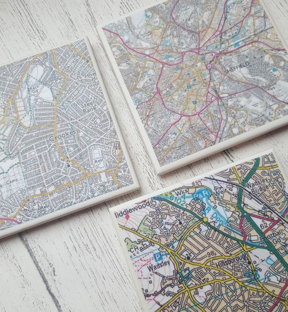 A  map of your favourite area on a Handmade Ceramic Coaster