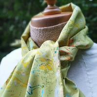 Chartreuse Crepe de Chine Scarf