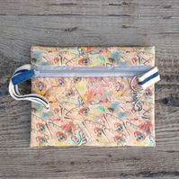 zip pouch with fish design
