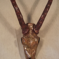 Antelope Papier-mâché Taxidermy Skull Wallhanging Interior decor