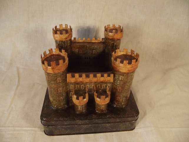 Traditional Vintage Style Castle. Man Cave Storage Container or Classic Toy