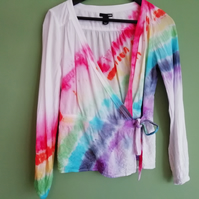 Rainbow Wrap Blouse