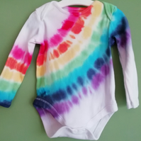 Long Sleeved Rainbow Bodysuit 9-12 months