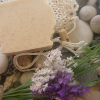 Shea butter shampoo bar with Lavender, Oat & Patchouli