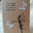 Handmade Get Well card, with a fairy and inspirational quote