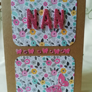 Floral birthday card for Nan with butterflies.