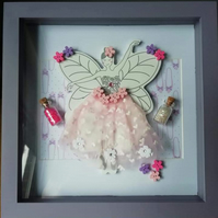 The Fairy Ballerina Frame, nursery wall art.