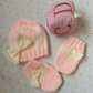 Baby Girl Hat and Mitten Pram Set