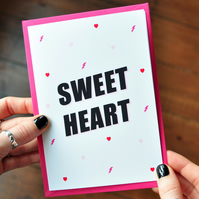 Lovely Quote Card - Sweet Heart - Mothers Day Card - Love Card - Greetings Card