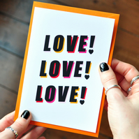 Love Quote Card -Typography Card - Mothers Day Card - Love Card - Greetings Card