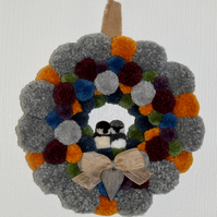 HANDCRAFTED POM POM WREATH