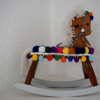 UPCYCLED DECORATIVE TOY ROCKING HORSE