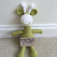 Giraffe Soft Toy - pistachio green