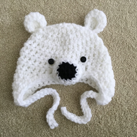 Baby Bear Hats - 0 to 3 months White