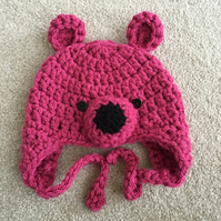 Baby Bear Hats - 0 to 3 months Pink