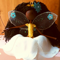 Black Fairy Princess Ornament