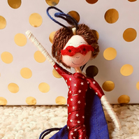 Brunette Boy Superhero doll