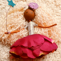 Mixed Race Blonde Fairy Doll Ornament