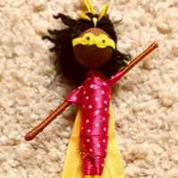 Black Girl Superhero Doll