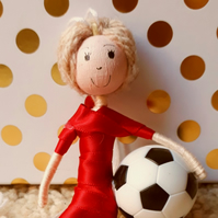Blonde Male Footballer Decoration