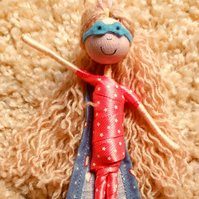Blonde Girl Superhero Doll