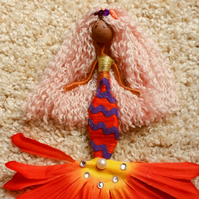 Mixed Race Mermaid Doll Decoration