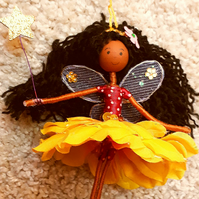 Mixed Race Fairy Doll Decoration